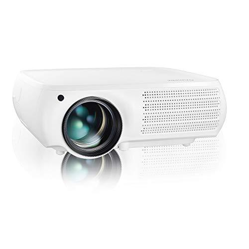 Gzunelic Proyector de vídeo LED nativo de 7500 lúmenes...