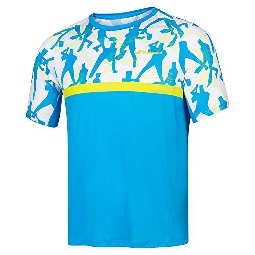 Babolat Compete Crew Neck tee Men Camiseta, Hombre, Malibu Blue, XL
