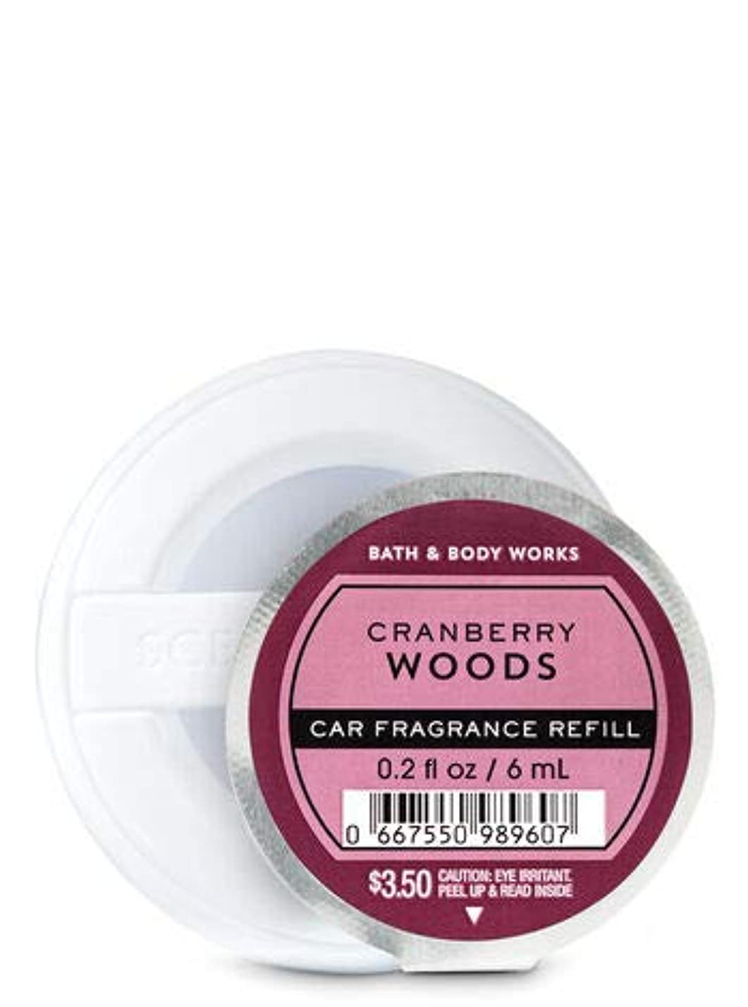 十代の若者たち戸口略語【Bath&Body Works/バス&ボディワークス】 クリップ式芳香剤 セントポータブル詰替えリフィル クランベリーウッズ Scentportable Fragrance Refill Cranberry Woods [並行輸入品]