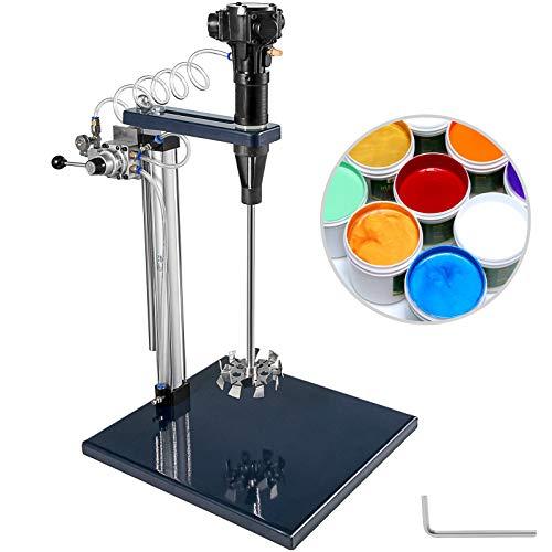 VEVOR 5 Gallonen Auto Pneumatischer Mixer 20L Tank 2000RPM Pneumatic Paint Mixer Farbmischer Einstellbarer Lift für Chemischen Industrie Lebensmittel und Kosmetikindustrie