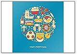 Imán para nevera con ilustración de Visit Portugal