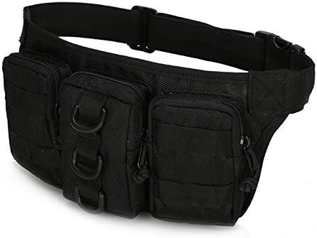 haoYK Riñonera táctica impermeable para riñonera, bolsa para cinturón de cadera, bolsa para actividades al aire libre, correr, caminar, ciclismo, ...