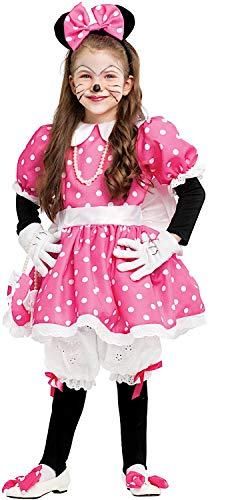 VENEZIANO Costume Carnevale da TOPOLETTA Lusso Baby Vestito per Bambina Ragazza 1-6 Anni Travestimento Halloween Cosplay Festa Party 53157 5 Anni