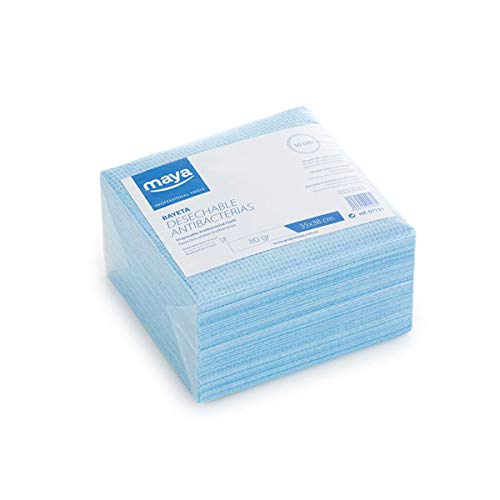 Maya 07131- Bayetas Desechables Antibacterias, 80g/m2, 50 Unidades