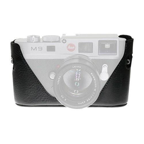Negro etiqueta bolsa M8/M9mitad funda de piel Para Leica M9, M8o M8.2