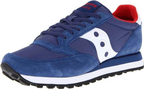 Saucony Originals Jazz Original - Sneakers da Donna, Blu (Blu Navy, Bianco e Rosso.), 41 EU