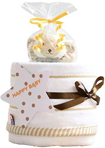 今治タオル imabari towel 出産祝い 日本製 オーガニック 1段 おむつケーキ シフィール パンパース テープ...