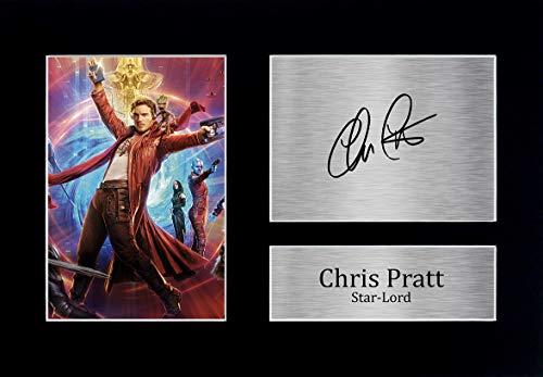 HWC Trading Chris Pratt A4 Ungerahmt Signiert Gedruckt Autogramme Bild Druck-Fotoanzeige Geschenk Für Guardians of The Galaxy Filmfans