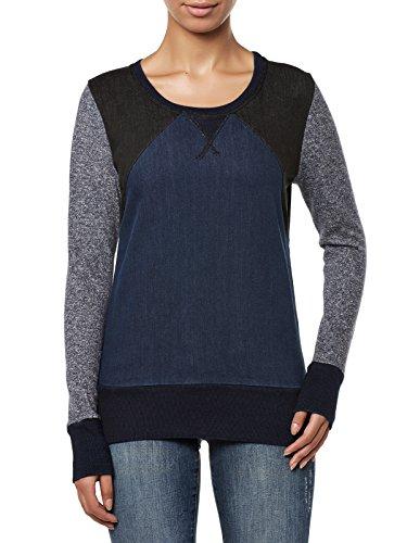 Liebeskind Berlin Damen Sweatshirt MW148602, Einfarbig, Gr. 42 (Herstellergröße: XL), Blau (mix blue)