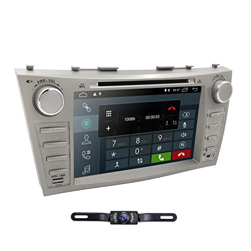 Hizpo Car DVD Player For Toyota Camry 2007 2008 2009 2010 2011 Android 10 Quad Core 8 Inch Screen GPS Navi BT Radio RDS DTV AUX USB Android/iPhone Mirrorlink SWC Rearview camera USA Map