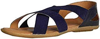 Women's Officewear Leather Ballet Flats Sandal Brown Color (Size 8)