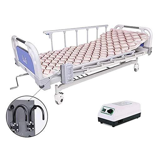 Slud Colchón antiescaras de Aire, con compresor, PVC médico ignífugo, 200 x 90, 130 Celdas, Beige