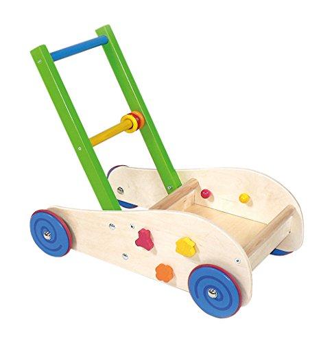 Hess Holzspielzeug 31177 - Lauflernwagen aus Holz, mit Gummibereifung, handgefertigt, für Babys und Kleinkinder, ca. 50 x 30 x 44 cm, für unbeschwerten Spiel- und Lernspaß