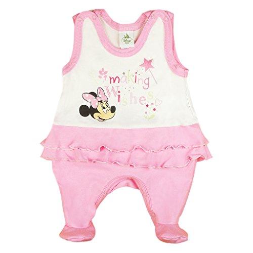 Disney Baby Minnie Mouse Mädchen Strampler mit Fuß, Ärmellos und Langarm *viele Modelle* in Größe 56 62 68 74 Baumwolle auch als Baby Schlafanzug Farbe Modell 5, Größe 80