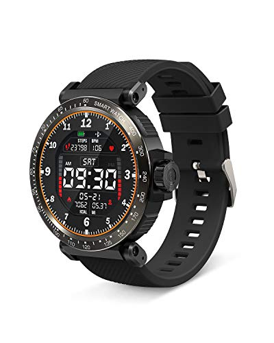 Smart Watch, BlitzWolf Orologio Fitness Uomo Donna Impermeabile IP68, Full Touch Screen Smartwatch, Cardiofrequenzimetro da Polso, Contapassi Smartband, Activity Tracker per Android & iOS -Nero