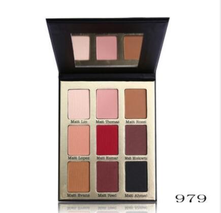 Bluelover Maquillage Professionnel 9 Couleurs Répondre Matte Eye Shadow Palette Nude Matte Fard À Paupières Palette Make Up Cosm - 02#
