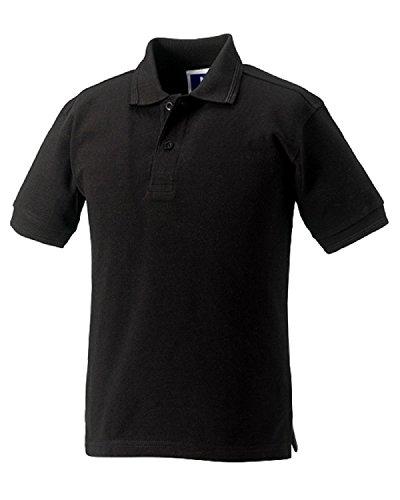 Russell Jerzees Poloshirts für Kinder, Mädchen, Jungen, Polycotton, 5 Stück Gr. One size, Schwarz