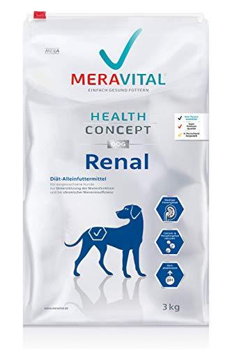 MERAVITAL Renal Hundefutter trocken 3 kg für Hunde bei Nierenerkrankungen - Niedriger Gehalt hochwertiger Proteine zur Entlastung der Nierenfunktion