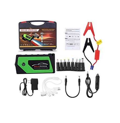 For Sale! DMQNA Jump Starter,600A Portable Auto Battery Booster Dual 12V USB Power Bank with Car Cha...