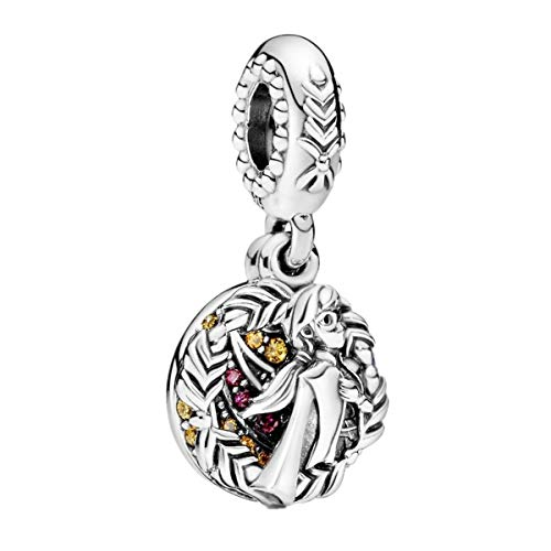 Annmors Disney Frozen Anna Dangle Charm fits Pandora Charms Bracelets for Woman-925 Sterling Silver Pendant Bead,Girl Jewelry Gifts for Women Bracelet&Necklace