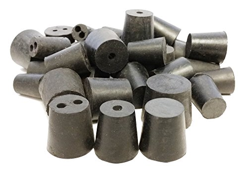 GSC International RS-S-1H-2H-1LB Stoppers Rubber, Assorted Solid, 1, and 2 Hole, 1 lb., Pack of 38