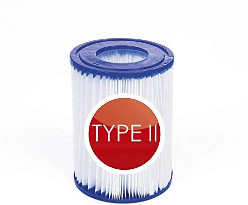 Poolfilter Typ 2,poolfilter kartusche,58094 Filterkartuschen Gr.II,Typ 2 Pool Familienpool Filter 136 * 106mm (2 Stück)
