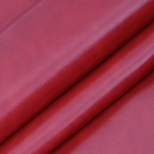 ZSYGFS Tela De Cuero Sintético De Polipiel 160 Cm De Ancho Vendido por Metro para Muebles Sofás Sillas Manualidades(Color:Rojo)