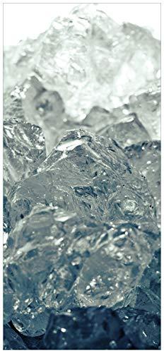 posterdepot ktt0021b deurbehang deurposter oplichtend ijs in zwart en wit-grootte 93 x 205 cm