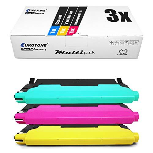 3x Eurotone Toner per Samsung CLP 310 315 wie CLT-P4092C P4092C Colore Ciano Magenta Giallo