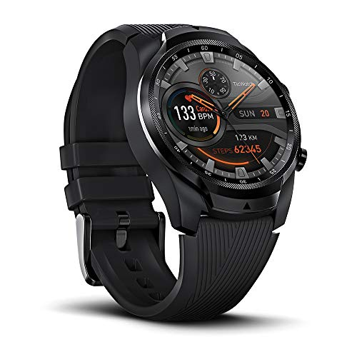 Ticwatch Smartwatch PRO, 1G RAM + 4GB Memory, Sleep Monitoring, Exercise and Fitness, Sports Watches, Integrated GPS, NFC Google Pay Connectivity eSIM 4G / LTE
