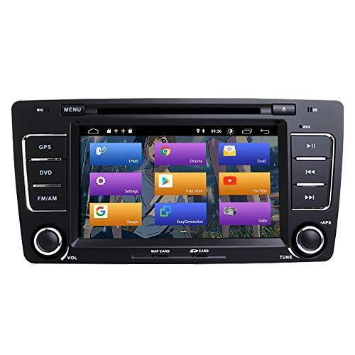 "BOOYES Pour Skoda Octavia 2009-2013 Yeti 2008-2014 Android 10.0 Double Din 7\""Lecteur DVD de Voiture Multimédia Navigation GPS Auto Radio Stéréo Car Auto Play/TPMS/OBD / 4G WiFi/DAB/SWC"
