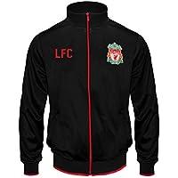 Liverpool FC - Chaqueta de Entrenamiento Oficial - para niño - Estilo Retro - Negro - 10-11 años (LN)