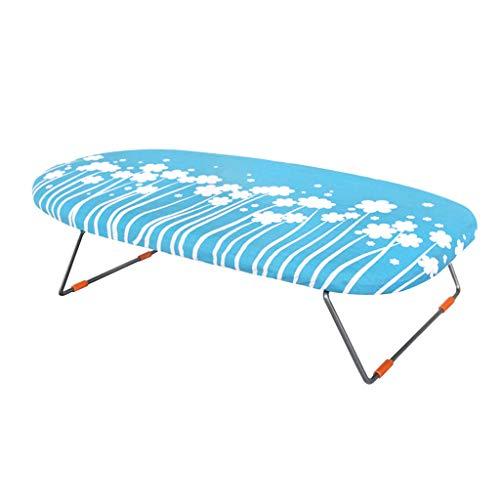 Planche à repasser de table avec planche à manches et repose-fer, pieds repliables avec housse en coton