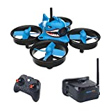 FancyWhoop Armor Blue Shark Micro FPV Racing Drone with 5.8G 40CH 1000TVL Camera