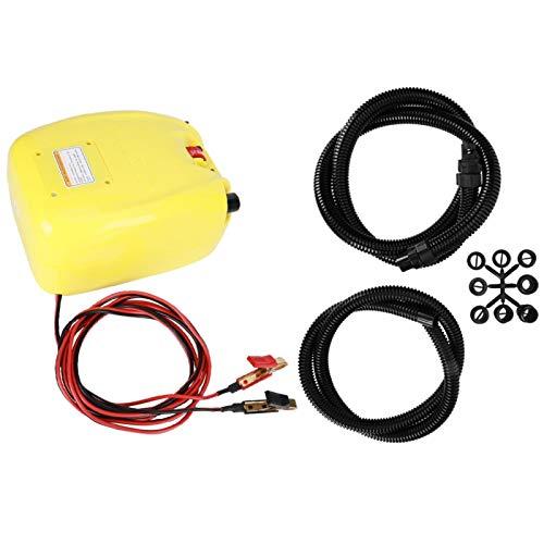 Estink Bomba de inflado eléctrica para Coche, Bomba de inflado eléctrica de Kayak inflada rápida y Duradera de 500 l/min para Bicicletas, Motocicletas, neumáticos de Coche