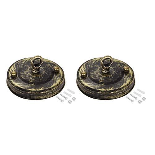 YeVhear - Kit de toldo retro ligero con anillo para techo de techo, estilo vintage, 104 mm, 4 pulgadas, 2 unidades