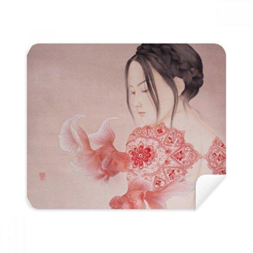 DIYthinker papier snijden schoonheid Chinese schilderij telefoon scherm reiniger bril schoonmaken doek 2 Stks Suede stof