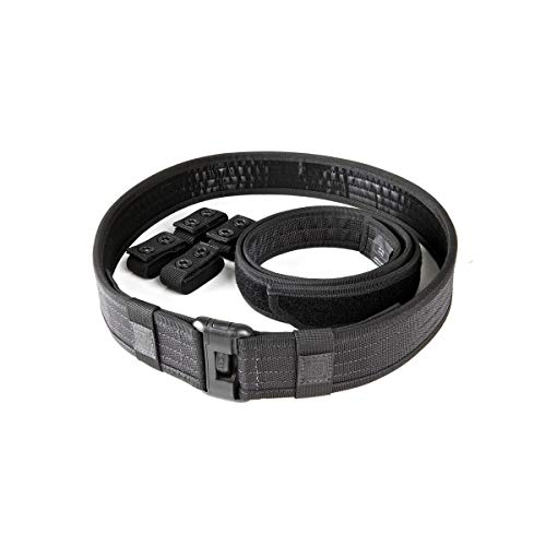 5.11 Tactical Men's 1.63-inch Sierra Bravo Plus Work Duty Belt, MOLLE TacTec Compatible, Black, Medium, Style 59505