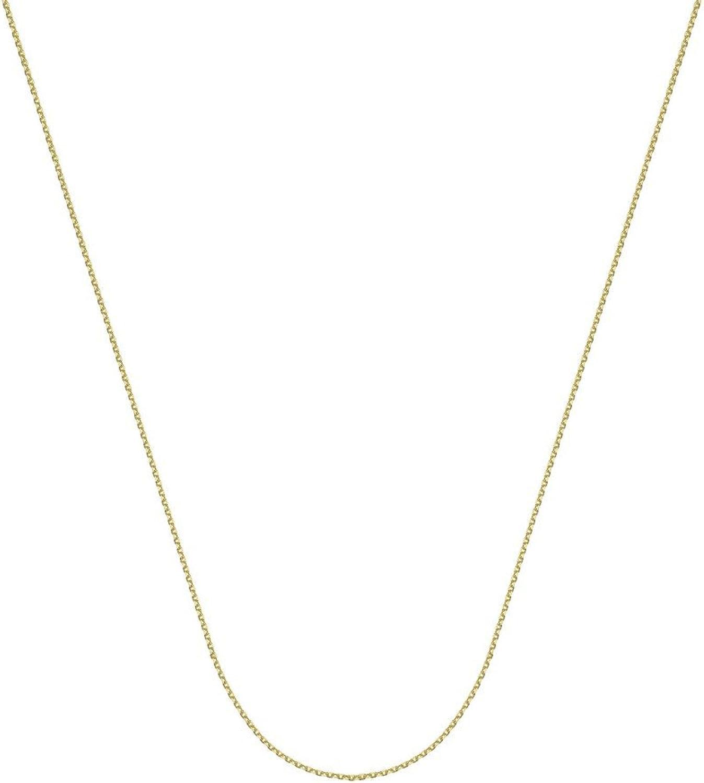 10K Gelb Gold 1,05mm diamantiert Kabel Kette Halskette Hummer Claw Schlieung-Lnge Optionen  41465161