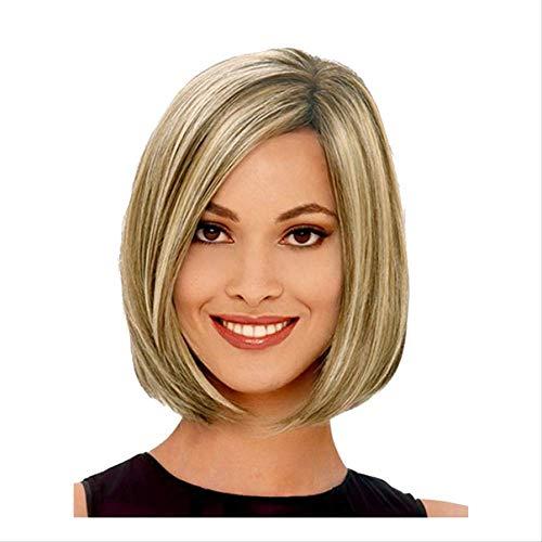 Perruque Femelle Cheveux Courts Européenne et Américaine De Mode Vague Tête Courte Droite Cheveux Pick Pick Perruque De Teinture Chimique Fibre Tête Couverture