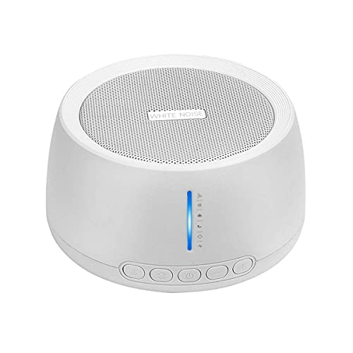 Portable White Noise Machine, Compact Sleep Sound Therapy with Earphone Jack, 30 Soothing Sounds, 32...