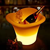 LED Ice Bucket, Wine Cooler Led Waterproof with Colors Changing and Remote Control, IP65 Waterproof for Bar Club Theme Restaurant Pub Beer Juice