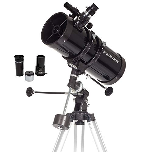 commercial astronomical telescopes Celestron – PowerSeeker 127EQ Telescope – German Manual Equatorial Telescope for Beginners – Compact and Portable – Bonus Astronomy Software Package – 127 mm Aperture