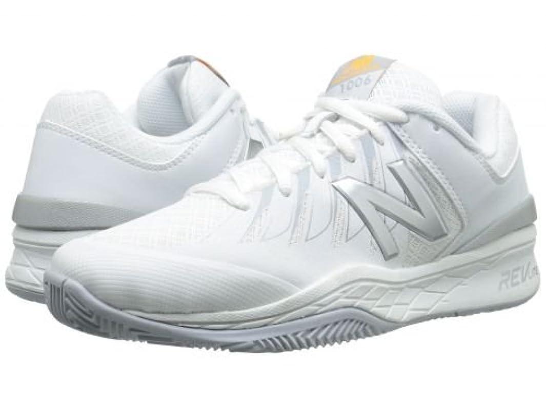 泳ぐ近く伝統New Balance(ニューバランス) レディース 女性用 シューズ 靴 スニーカー 運動靴 WC1006v1 - White/Silver [並行輸入品]