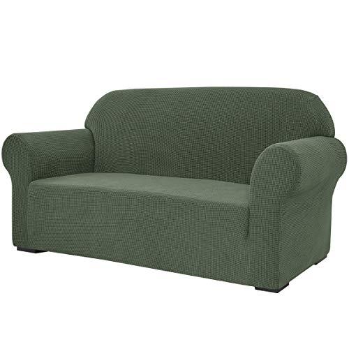 subrtex Stretch-Sofabezug, 1 Stück, für Wohnzimmer, Sessel, weiche Möbel, waschbar, Couch, Schonbezüge für Kinder/Hunde (Sofa, grün)