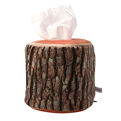 FORHOME Multifunktionale Tissue-Aufbewahrungsboxen Tisch-Aufbewahrungs-Tools FüR Kreative Baumrinden-Tissue-Aufbewahrungsboxen
