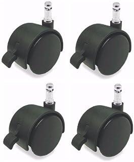"Harper Brush 267 Caster 3/""x7//8/"" Rubber Wheel 7//16/"" Socket Adapters Included 4"