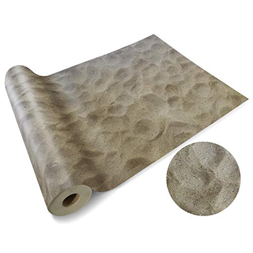 Casa pura Vinyl Flooring Roll - Floor Covering | PVC Decking Roll | Moonlight | Laminate Surface for Kitchen, Bathroom or Office | Variety of Styles | Sandy Beach - 200 x 350 cm