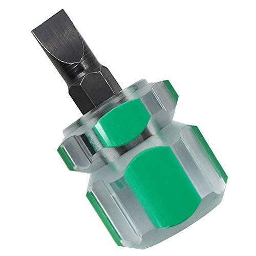 Oulensy Mini Bidireccional Intercambiables Destornillador De Reparación De Bricolaje Herramientas De Punta Plana Destornillador De Estrella Titular De bits (Color Al Azar)