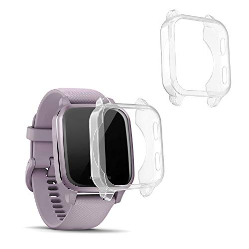 kwmobile 2 Pack de Fundas Compatible con Fitness Tracker Garmin Venu Sq/Sq Music - Case en Transparente